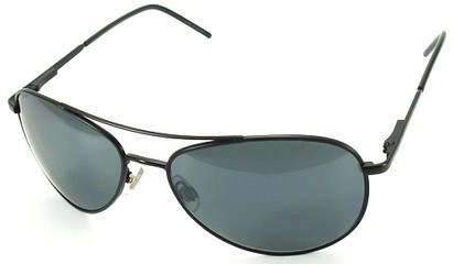 Angle of SW Aviator Style #1182 in Black Frame, Women's and Men's