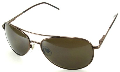 Angle of SW Aviator Style #1182 in Bronze Frame, Women's and Men's