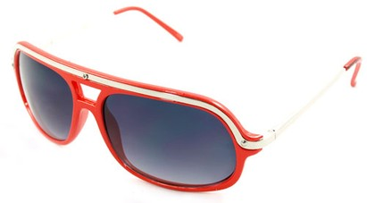 Angle of SW Aviator Style #4115 in Red Frame, Women's and Men's