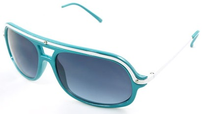 Angle of SW Aviator Style #4115 in Teal Blue Frame, Women's and Men's