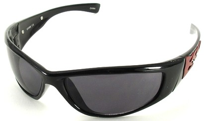 Angle of SW Flames Style #1950 in Black and Red Frame, Women's and Men's