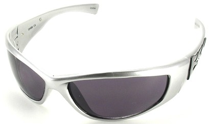 Angle of SW Flames Style #1950 in Silver Frame, Women's and Men's