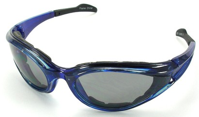 Angle of SW Shatterproof Goggles Style #9887 in Blue Frame, Women's and Men's