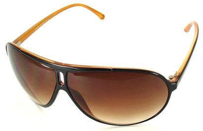 Angle of SW Oversized Style #5066 in Black and Orange Frame, Women's and Men's