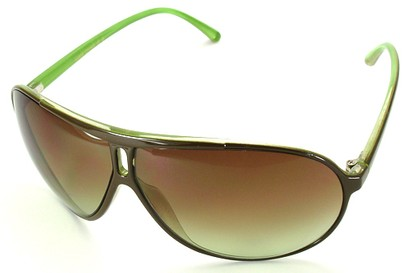 Angle of SW Oversized Style #5066 in Green Frame, Women's and Men's