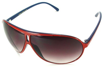 Angle of SW Oversized Style #5066 in Red and Blue Frame, Women's and Men's