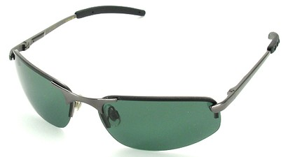 Angle of SW Polarized Style #1945 in Grey Frame with Smoke Lenses, Women's and Men's