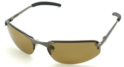 Angle of SW Polarized Style #1945 in Grey Frame with Amber Lenses, Women's and Men's