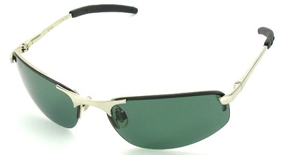 Angle of SW Polarized Style #1945 in Silver Frame, Women's and Men's