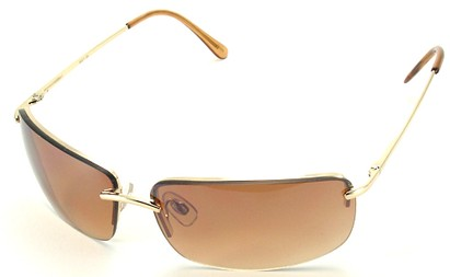 Angle of Mediterranean #6021 in Gold Frame with Gold Lenses, Women's and Men's Square Sunglasses
