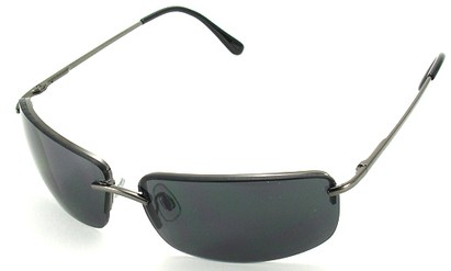Angle of Mediterranean #6021 in Grey Frame with Dark Lenses, Women's and Men's Square Sunglasses
