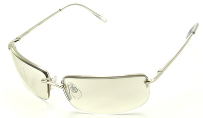 Angle of Mediterranean #6021 in Silver Frame with Clear Lenses, Women's and Men's Square Sunglasses