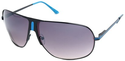 Angle of SW Aviator Style #1178 in Black and Blue Frame, Women's and Men's