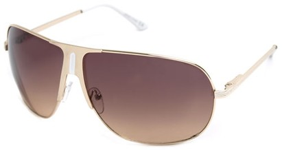 Angle of SW Aviator Style #1178 in Gold and White Frame, Women's and Men's