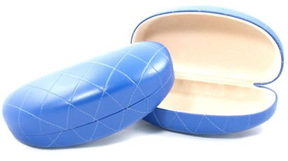 Angle of Large Blue Quilted Case #624 in Large Blue Quilted Case #624, Women's and Men's