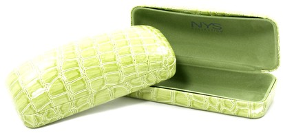 Angle of Medium Lime Green Rectangle Case #915 in Medium Lime Green Rectangle Case #915, Women's and Men's