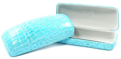 Angle of Medium Turquoise Rectangle Case #915 in Medium Turquoise Rectangle Case #915, Women's and Men's