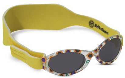 Angle of SW ABC Infant Sunglasses #202 in Yellow Sunflowers, Women's and Men's