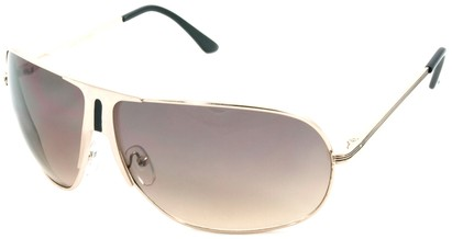 Angle of SW Aviator Style #1178 in Gold and Black Frame, Women's and Men's