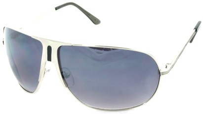 Angle of SW Aviator Style #1178 in Silver and Black Frame, Women's and Men's