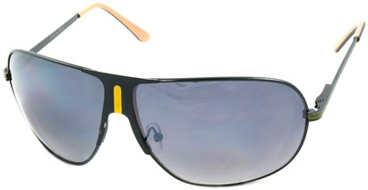 Angle of SW Aviator Style #1178 in Black and Yellow Frame, Women's and Men's