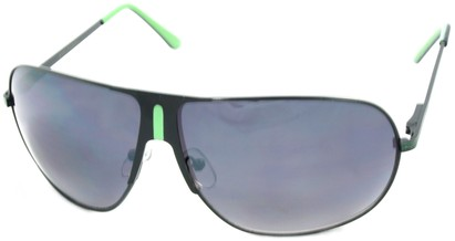 Angle of SW Aviator Style #1178 in Black and Green Frame, Women's and Men's