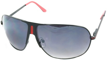 Angle of SW Aviator Style #1178 in Black and Red Frame, Women's and Men's
