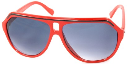 Angle of SW Aviator Style #1351 in Red with Black Frame, Women's and Men's