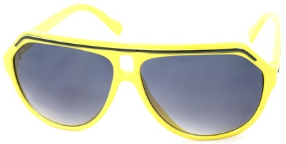 Angle of SW Aviator Style #1351 in Yellow with Black Frame, Women's and Men's