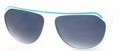Angle of SW Aviator Style #1351 in White with Blue Frame, Women's and Men's