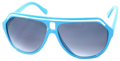 Angle of SW Aviator Style #1351 in Blue with White Frame, Women's and Men's