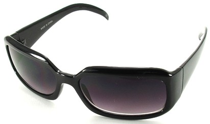 Angle of SW Fashion Style #1463 in Black Frame, Women's and Men's