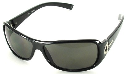 Angle of SW Fashion Style #241 in Black and Silver Frame, Women's and Men's