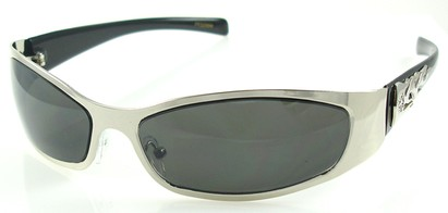 Angle of SW Flames Style #1239 in Silver Frame, Women's and Men's