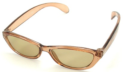 Angle of SW Kid's Style #9150 in Brown Sunglasses, Women's and Men's