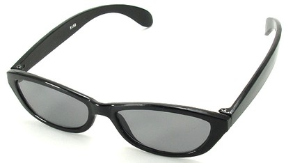 Angle of SW Kid's Style #9150 in Black Sunglasses, Women's and Men's
