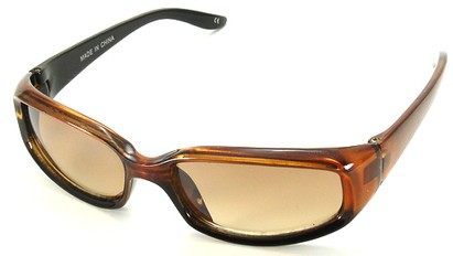 Angle of SW Kid's Style #9142 in Brown Sunglasses, Women's and Men's