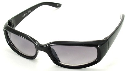 Angle of SW Kid's Style #9142 in Black Sunglasses, Women's and Men's