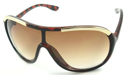 Angle of SW Oversized Shield Style #4724 in Tortoise Frame, Women's and Men's