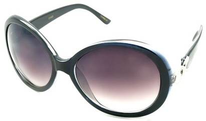 Angle of SW Oversized Style #15038 in Black Fade Frame, Women's and Men's