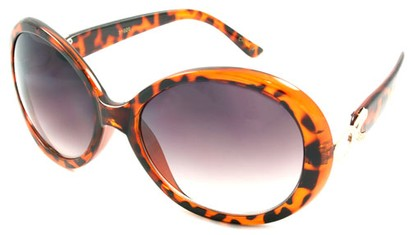 Angle of SW Oversized Style #15038 in Tortoise Frame, Women's and Men's