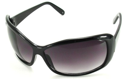 Angle of SW Oversized Style #502 in Black Frame, Women's and Men's