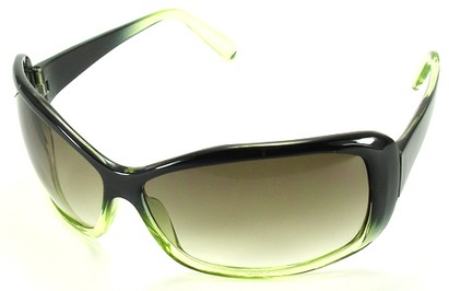 Angle of SW Oversized Style #502 in Green Frame, Women's and Men's