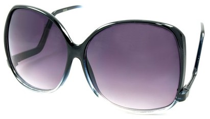 Angle of SW Oversized Style #5083 in Black Fade Frame, Women's and Men's