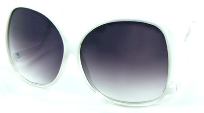 Angle of SW Oversized Style #5083 in White Fade Frame, Women's and Men's