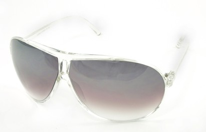 Angle of SW Oversized Style #5066 in Clear Frame, Women's and Men's