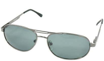Angle of SW Polarized Aviator Style #221 in Gray Frame, Women's and Men's