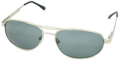 Angle of SW Polarized Aviator Style #221 in Silver Frame, Women's and Men's
