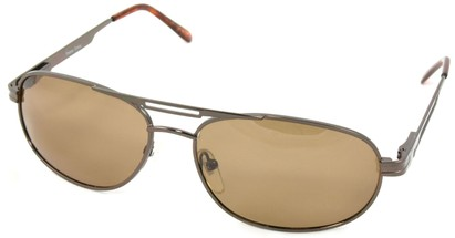 Angle of SW Polarized Aviator Style #221 in Brown Frame, Women's and Men's