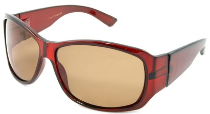 Angle of SW Polarized Style #45 in Red Frame, Women's and Men's